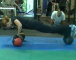Elizabeth medicine ball push up
