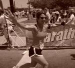 Lisa at the marathon finish line2